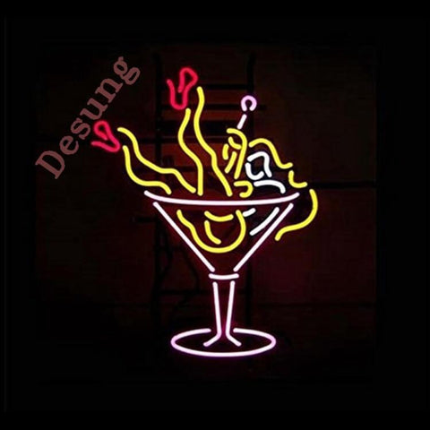 "Desung Cocktail Enjoy Girl Neon Sign business 120BP343CEG 1856 20"" bar"