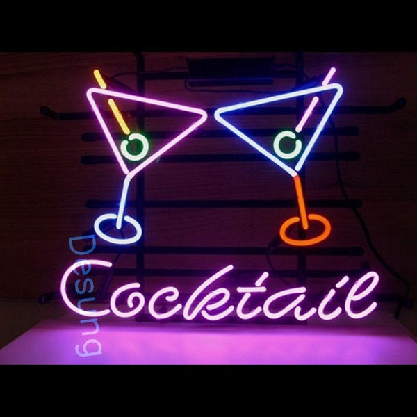 "Desung Cocktail Martini Neon Sign alcohol 118BP175CMN 1688 18"" bar cocktail"