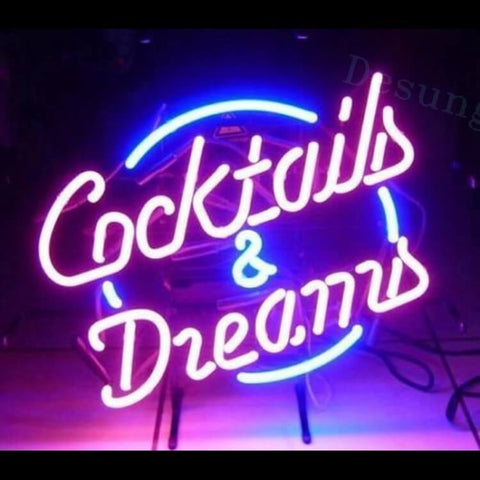 "Desung Cocktails and Dreams Neon Sign business 118BP121CDN 1634 18"" bar"