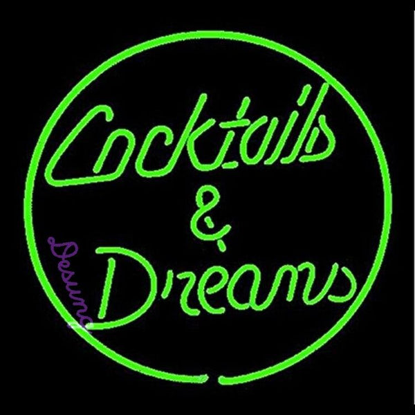 "Desung Cocktails & Dreams Green Neon Sign business 120BP258DDA 1771 20"" bar"