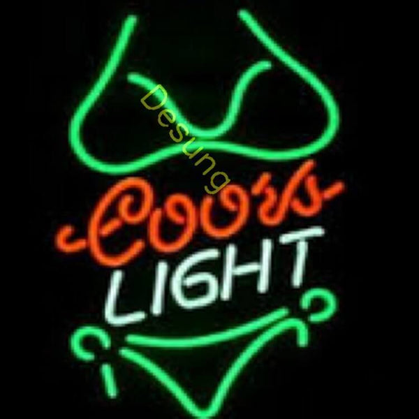 "Desung Coors Light Bikini Neon Sign business 117MC447CLB 1960 17"" bar"