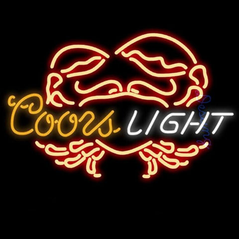 "Desung Coors Light Crab Neon Sign business 120BR268CLC 1781 20"" bar"