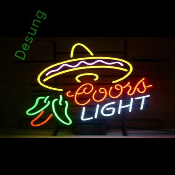"Desung Coors Light Neon Sign alcohol 117BR477CL 1990 17"" beer bar"