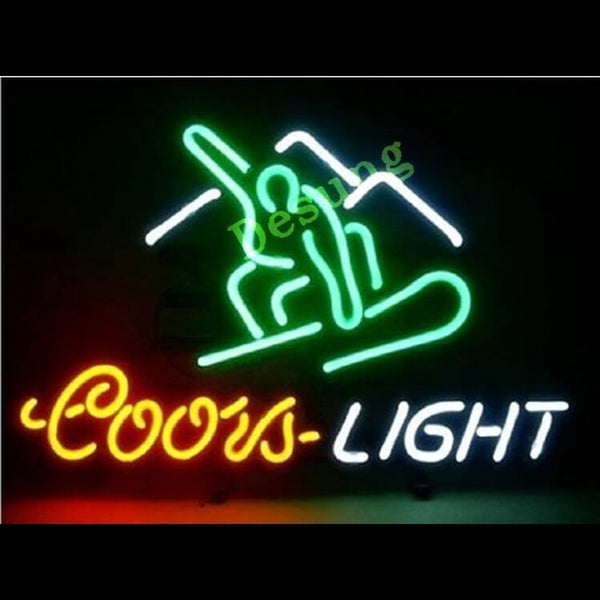 Desung Coors Light Skiing Neon Sign business 124BR295CSN 1808 24""