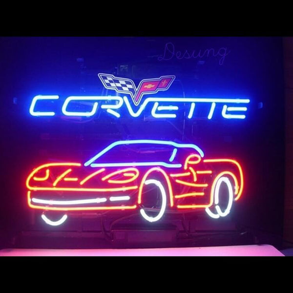 Desung Corvette Car Auto Neon Sign auto 118AM024CCA 1537 18""