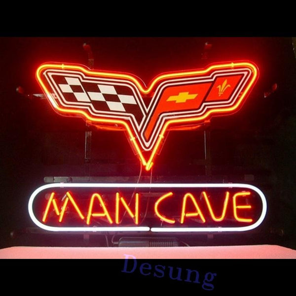 Desung Corvette Man Cave Neon Sign auto 118MC082CMC 1595 18""