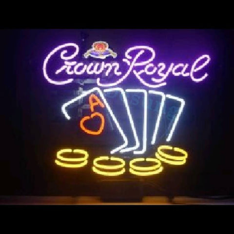 "Desung Crown Royal Casino Neon Sign business 117WS504CRC  2017  17""  casino"