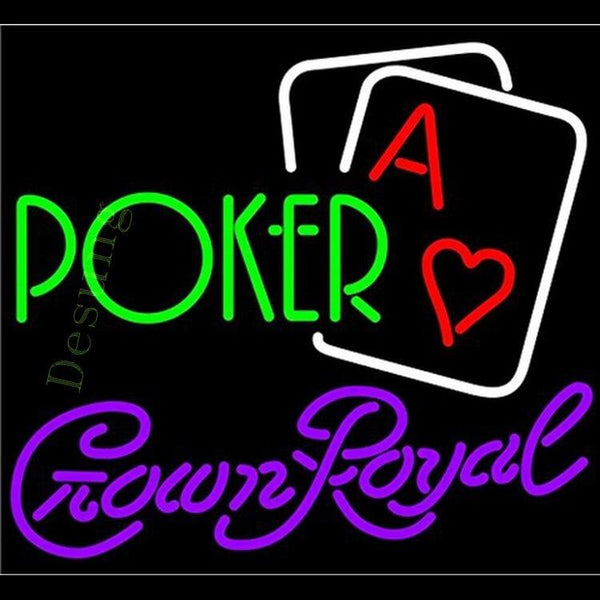 "Desung Crown Royal Green Poker Neon Sign business 120WS303CRG 1816 20"" casino"