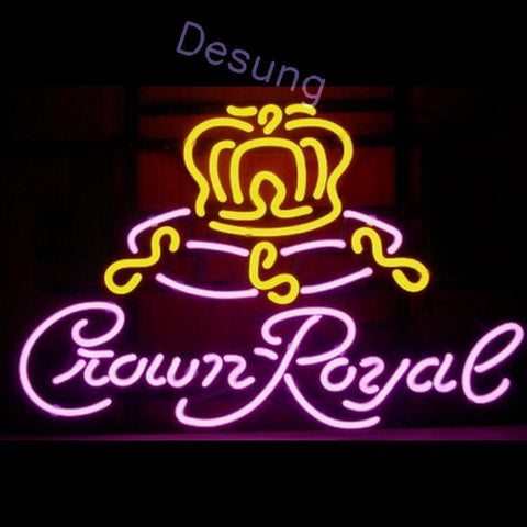 "Desung Crown Royal Neon Sign alcohol 117WS454CR 1967 17"" whisky bar"