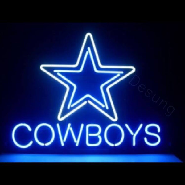 "Desung Dallas Cowboys Star Neon Sign sports 117SP506CS 2019 17"" football"