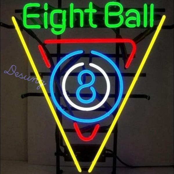 "Desung Eight 8 Ball Neon Sign business 120BP283ELB 1796 20"" arcade"