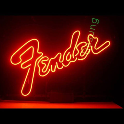 Desung Fender Musical Instruments Guitar Neon Sign personal 118BS042FEN 1555 18""