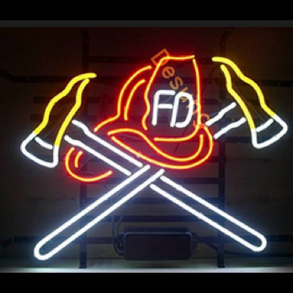 Desung Fire Department Fd Neon Sign business 117BS464FDF 1977 17""