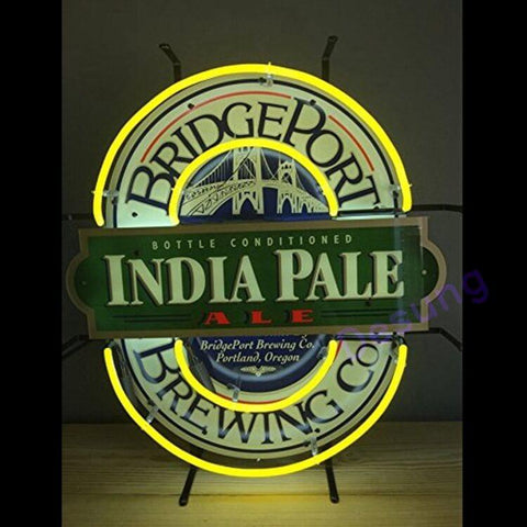 "Desung India Pale Ale Bridgeport Brewing Neon Sign alcohol 124BR263BRI 1776 24"" beer bar"