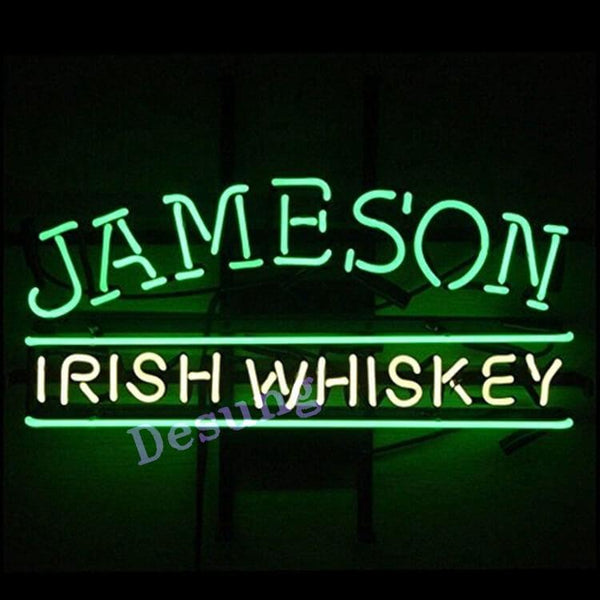 "Desung Jameson Irish Whiskey Neon Sign alcohol 120WS217JIW 1730 20"" whiskey bar"
