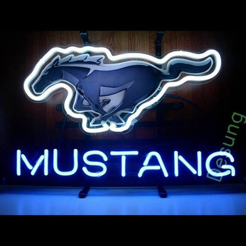 Desung Mustang Horse Garage Neon Sign auto 118AM101MHG 1614 18""