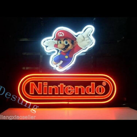"Desung Nintendo Super Mario Neon Sign business 118BS140NSM 1653 18"" arcade"