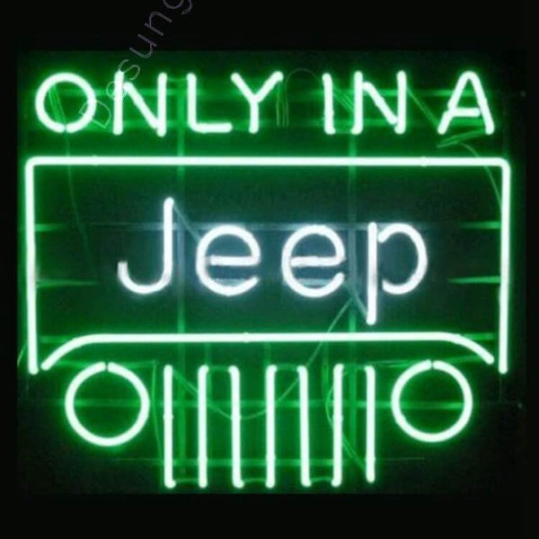 Desung Only in a Jeep Neon Sign auto 118AM122OJN 1635 18""