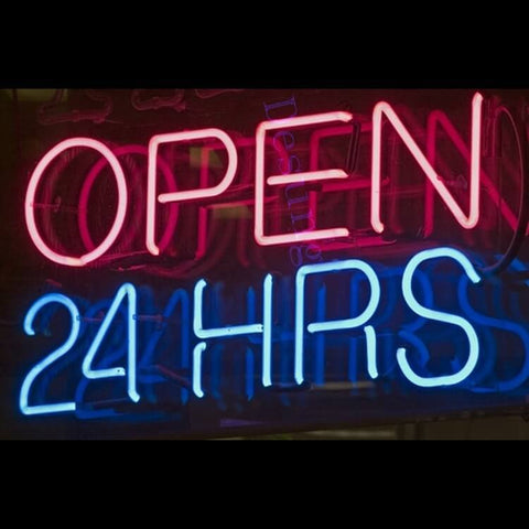 "Desung Open 24 Hours Neon Sign business 120OP401OHN  1914  20""  open"
