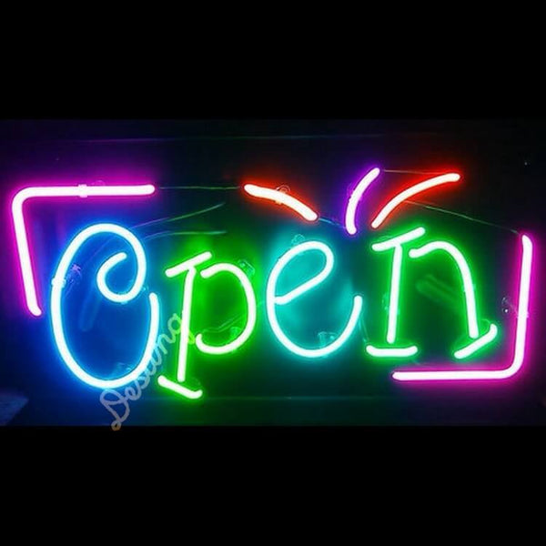 "Desung Open multiple Colors Neon Sign business 120OP405OMC 1918 20"" open"
