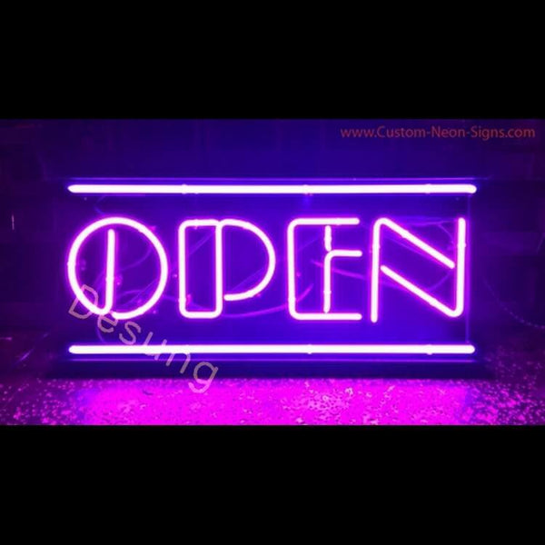 "Desung Open Purple Neo Sign business 120OP415OPN 1928 20"" open"