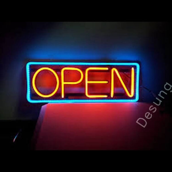 "Desung Open Red Blue Neon Sign business 120OP416ORB 1929 20"" open"
