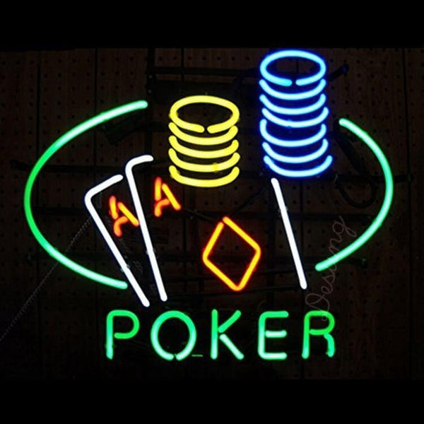 "Desung Poker Decorate Neon Sign business 118BS163PDN 1676 18"" casino"