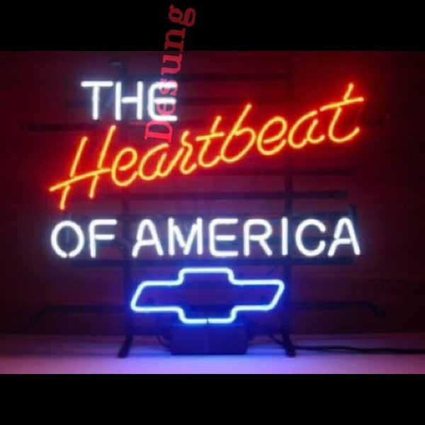 Desung the Heartbeat of America Chevy Chevrolet Neon Sign auto 120AM185THA 1698 20""
