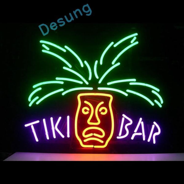 "Desung Tiki Bar Totem Pole Neon Sign business 118BP022TBT 1535 18"" bar"