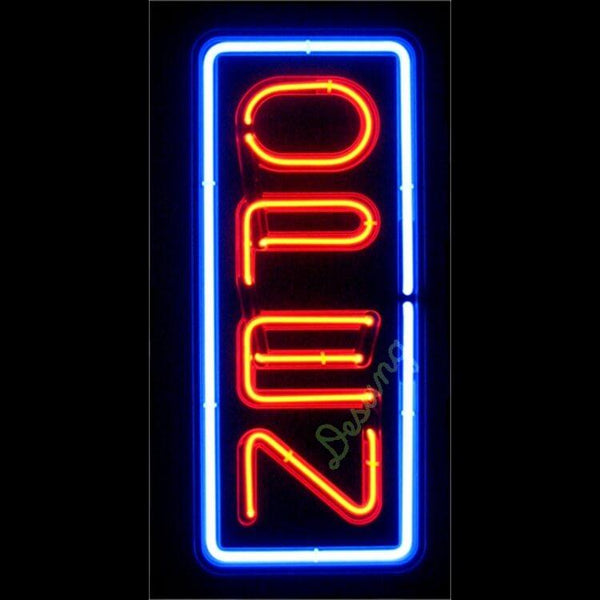 "Desung Vertical Open Neon Sign business 120OP409VON 1922 20"" open"