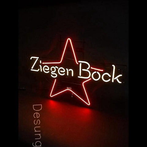 "Desung ZiegenBock Neon Sign alcohol 118BR360ZBN 1873 18"" beer bar"