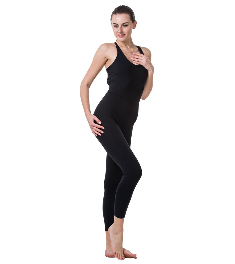 LOVESOFT Women's Sleeveless Backless Yoga Jumpsuit