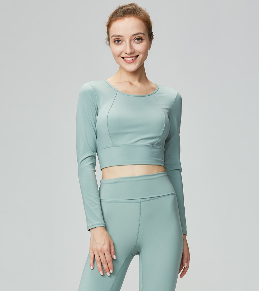 Women Yoga Casual Slim Fit Long Sleeve Shirts