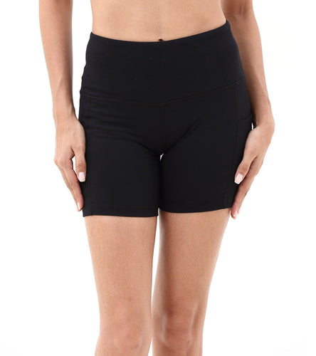 LOVESOFT Women's Workout Sports Yoga Shorts with Side Pocketed
