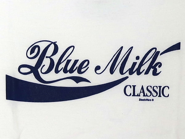 Steele Wars - Blue Milk Classic - White T-shirt