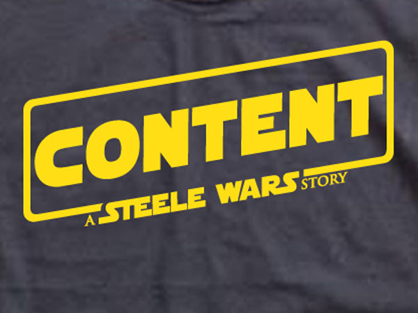 Steele Wars - Content - Black T-shirt