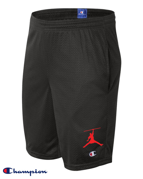Steele Wars / Champion  - Chicago Sports Reference - Black Mesh Shorts with Pockets