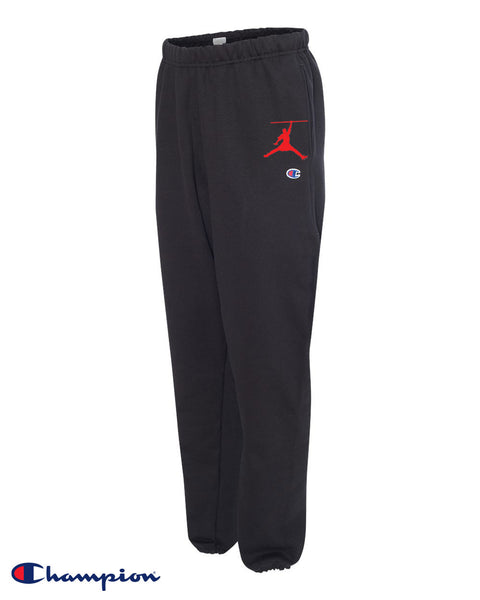 Steele Wars / Champion  - Chicago Sports Reference - Black Reverse Weave Sweatpants with Pockets