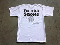 Steele Wars - I'm With Snoke - White T-shirt