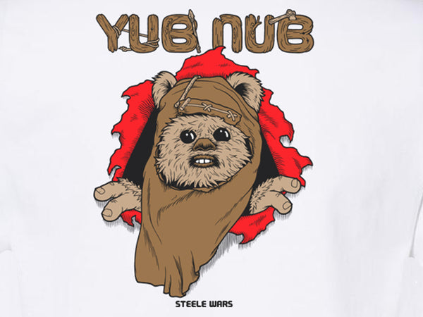 Steele Wars - Yub Nub - White T-shirt
