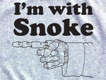 Steele Wars - I'm With Snoke - Athletic Grey T-shirt
