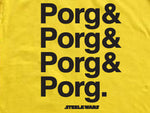 Steele Wars - Cast Line Up - Yellow T-shirt
