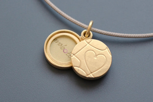 romantic golden love locket for two pictures