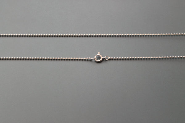 ballchain 1,5mm sterling silver