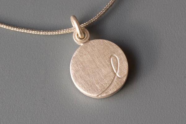 personalized initial locket for a small photo in sterling silver
