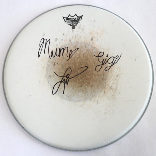 Used Drum Head and Sticker - Autographed