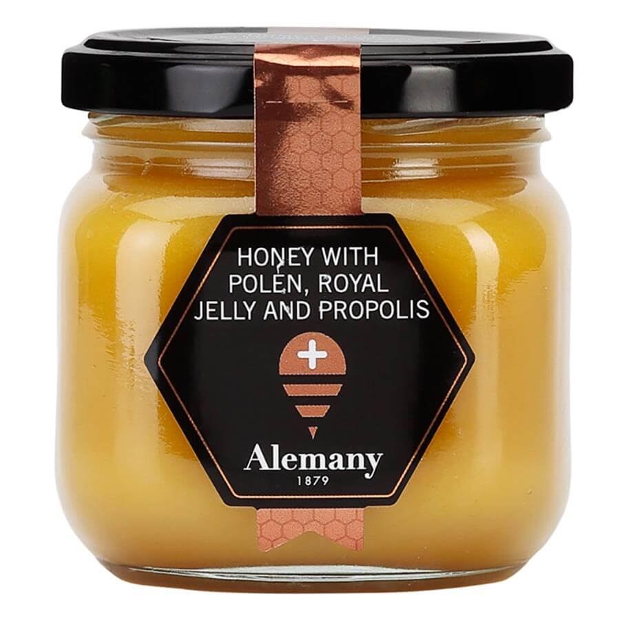 Alemany Honey with Pollen, Royal Jelly and Propolis, 250g
