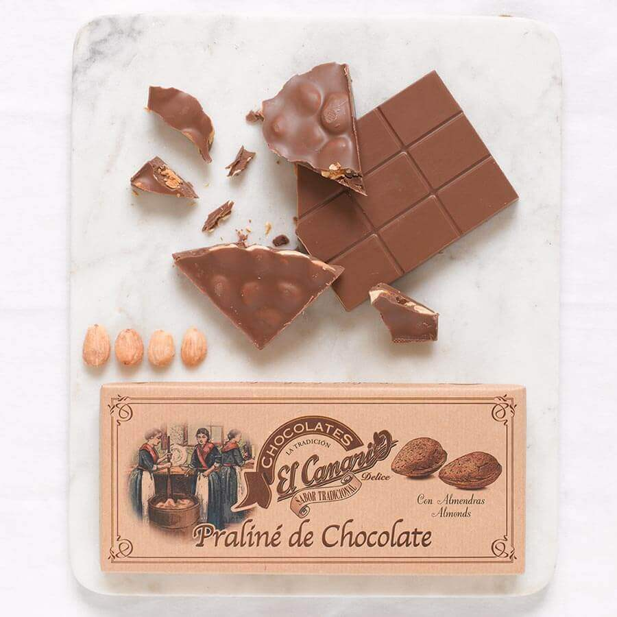 El Canario Chocolate Praline with Almonds Brindisa Spanish Foods