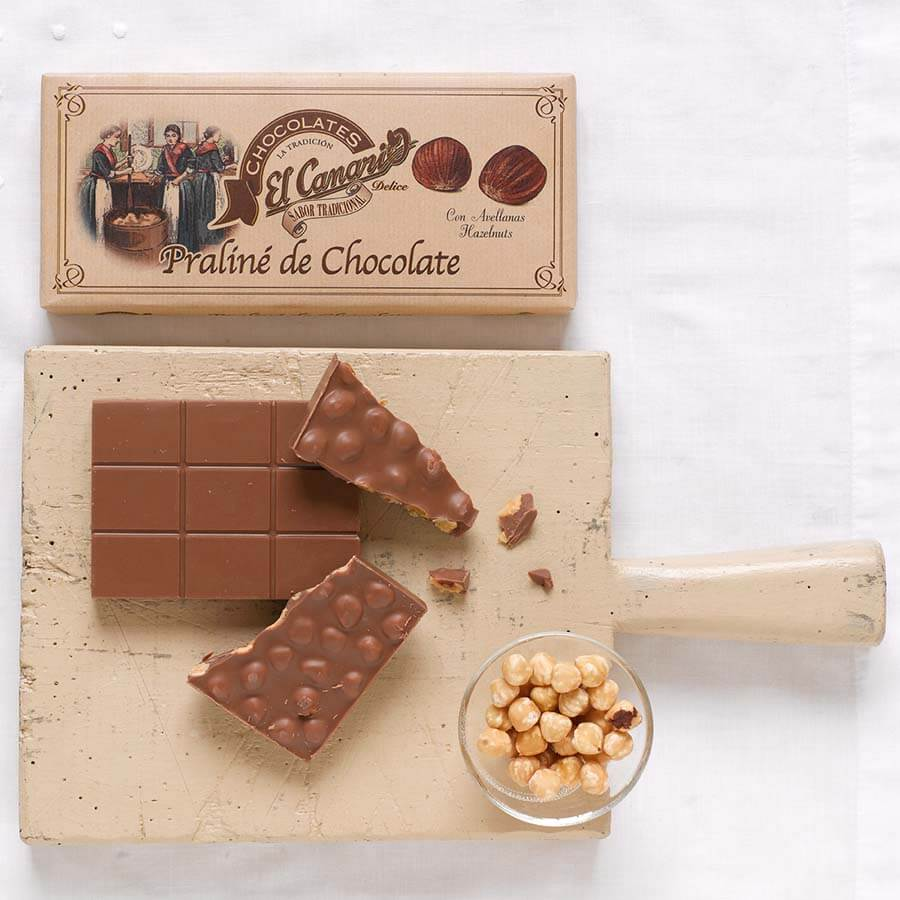 El Canario Chocolate Praline with Hazelnuts Brindisa Spanish Foods