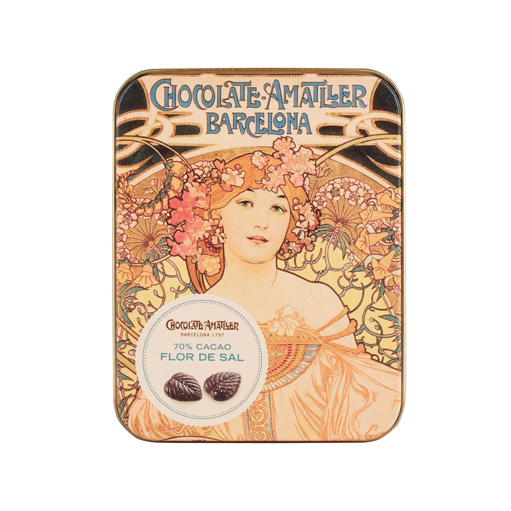 Amatller Salted Dark Chocolate Leaves 60g